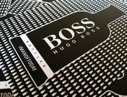 HUGO BOSS – Rascas promocionales y adhesivos